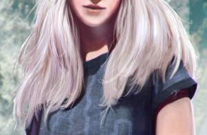 A unique fae, sporting her human look, as illustrated by John Taylor.