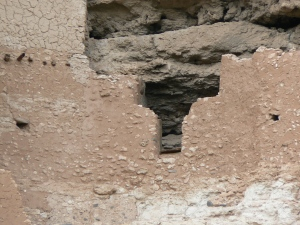 Hand-packed mud holds  the walls together. ©2013 ANVidean