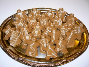Gingerbread orchestra.