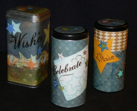 "My ""scrapboxed"" cookie tins for cookies and gingerbread"
