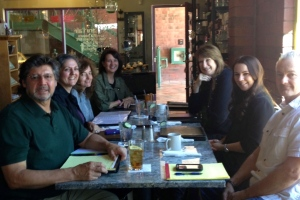 Here are some members of our illustrious tribe—Al, Ann, Karen, Martha, Laurie, Megan, Shayne—sharing a delicious lunch and stimulating conversation. Join us at our March 12 ALWAYS meeting with Deborah Brown in Phoenix to learn more about becoming an Amazon best seller, and building your author platform.