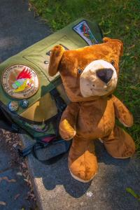 Buddy The Soldier Bear... created from the illustrations as the book's mascot