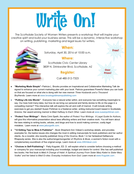 write on flier