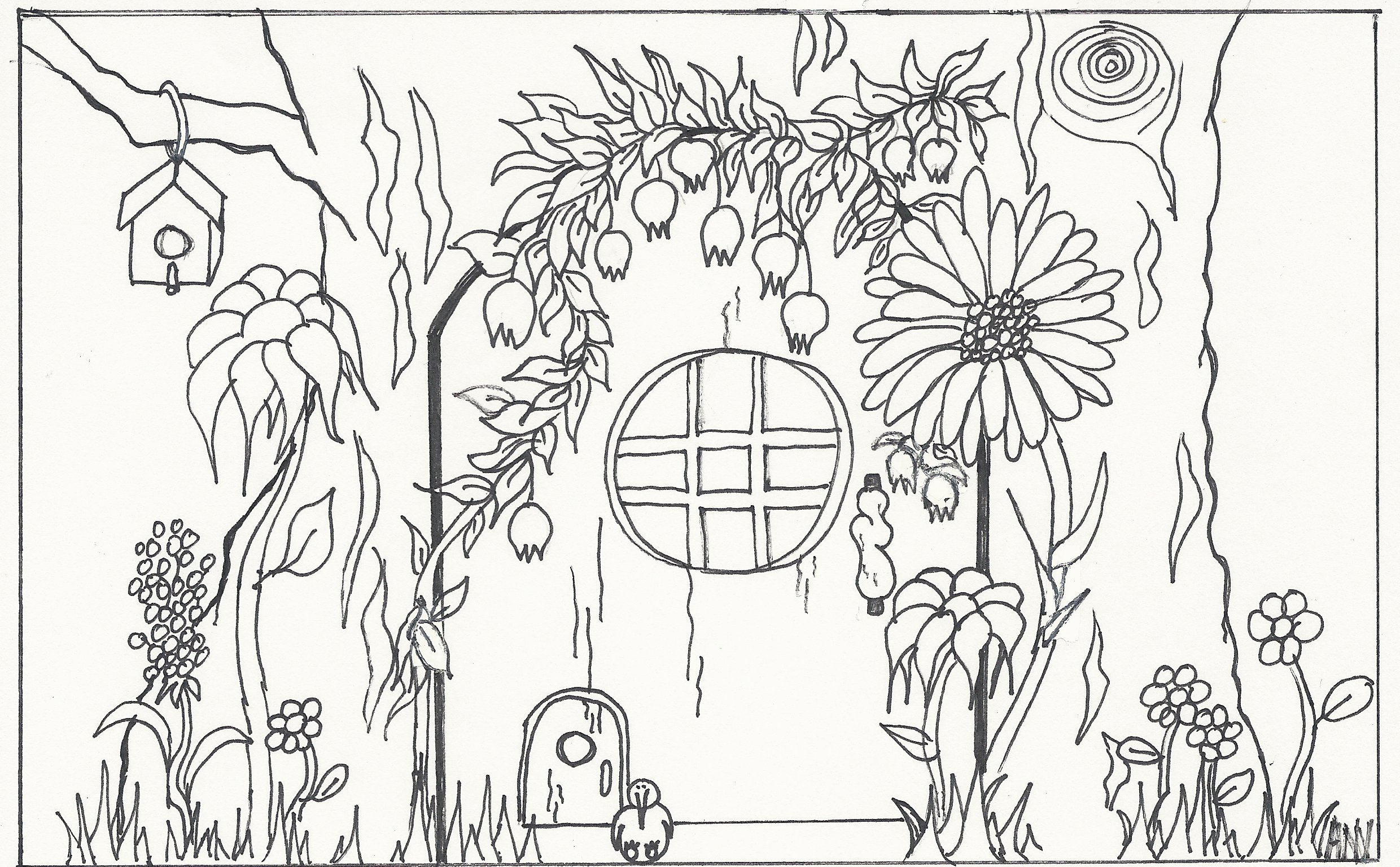 One of my drawings for the Absolutely Wild! faerie door coloring book.  sc 1 st  Ann Narcisian Videan & Beyond whimsy: Experience the impact of faerie doors | Ann Narcisian ...